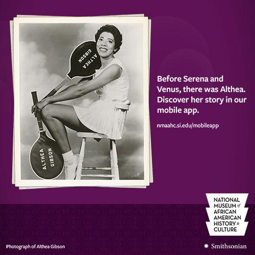 Social media promo image of Althea Gibson