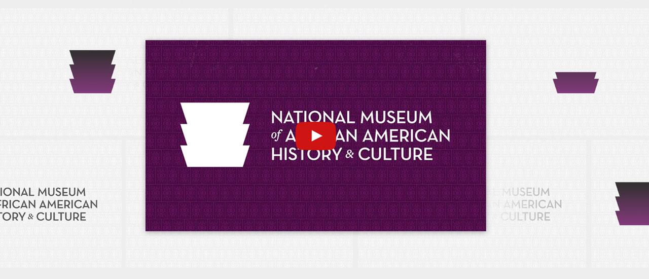 Screenshot of video title screen showing NMAAHC logo