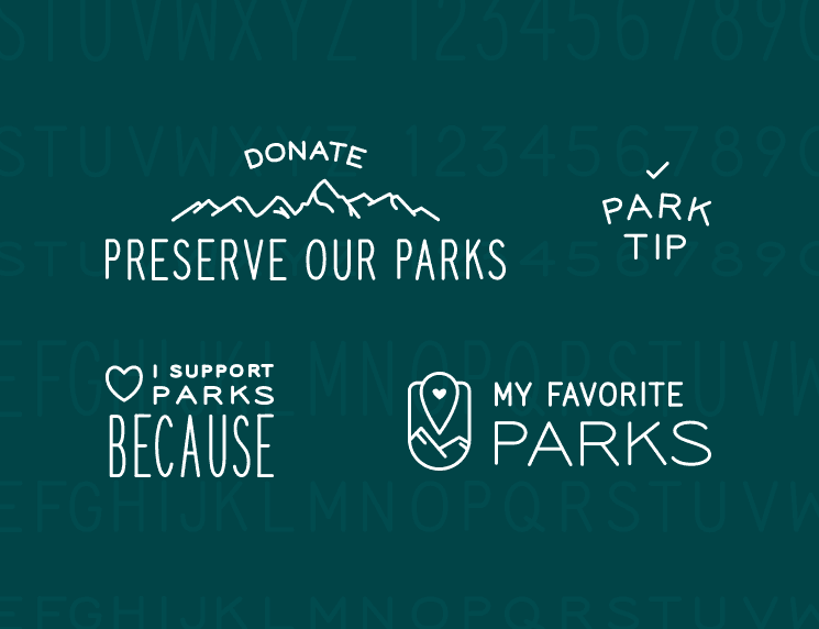 Examples of NPCA typographic elements