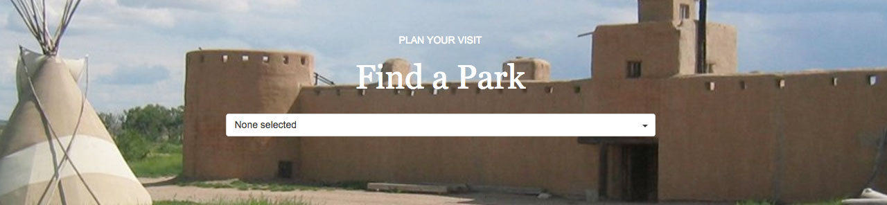 Screenshot of 'Find a Park' search on the NPS website.