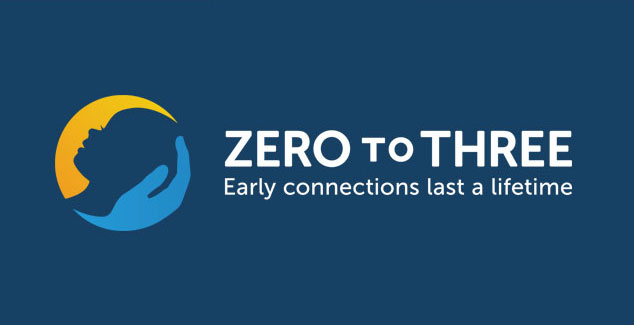 Zero to Three logo on dark blue background